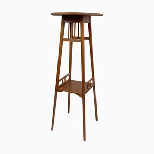 Tall Wooden Plant Stand, 1930s