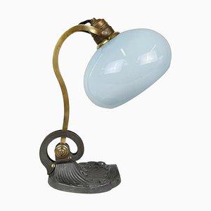 Art Nouveau Brass Lamp, 1920s