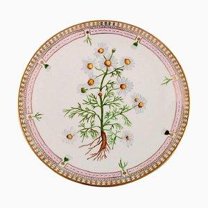 Piatto piano in stile Flora Danica