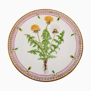 Dinner Plate in Flora Danica Style