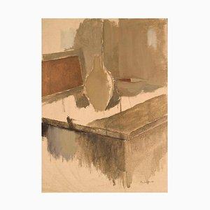 Stig Sundin, Sweden, Oil on Canvas, Still Life, 1960s