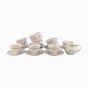 Fairfax Teetassen mit Untertassen und Sahnekännchen von Royal Doulton, England, 25er Set