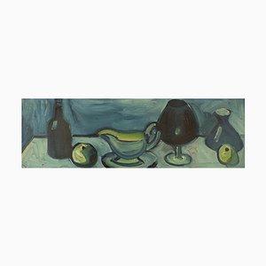 Eyvind Olesen, Denmark, Oil on Canvas, Still Life, 1967