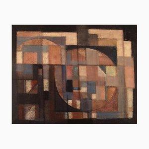 Svend Aage Larsen, Denmark, Oil on Canvas, Geometric Composition, 1971