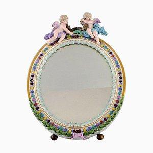 Antiker Meissen Porzellan Spiegel