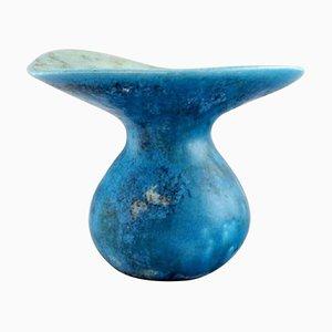 Vase aus glasierter Keramik von Hans Hedberg, Schweden, 1980er