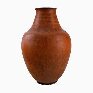 Vase aus glasierter Keramik von Triller Tobo, Schweden, 1970er