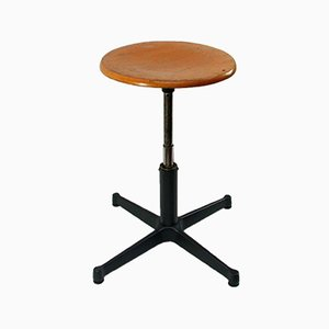 Vintage Industrial Work Stool, 1960s