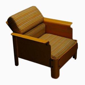 Niedriger Stuhl aus Schichtholz