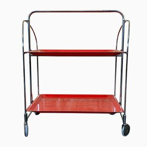 Red Serving Cart, 1970s