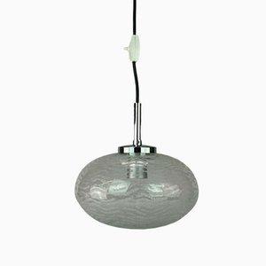 Glass Hanging Lamp, 1970s