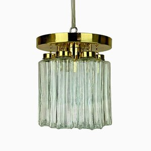 Glas Deckenlampe, 1970er