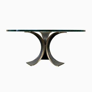 Brutalistischer Couchtisch aus Bronze & Glas, 1960er