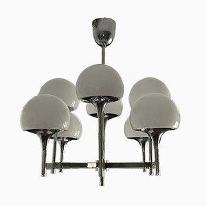 Glas 8 Fuxs Kronleuchter von Gaetano Sciolari, 1970er