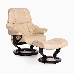 Reno Leather Armchair and Stool from Stressless