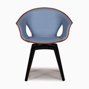 Chaise en Cuir Marron Gingembre de Poltrona