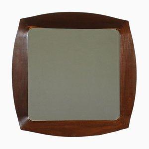 Spiegel aus Glas & Mahagoni, Italien, 1960er