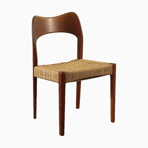 Teak and Rope Chair, Italy, 1960s