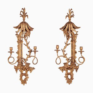 Chippendale Style Candleholders, Set of 2