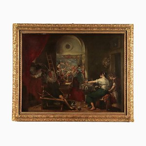 Le Pholatric La Favola Di Aracne, Oil on Canvas