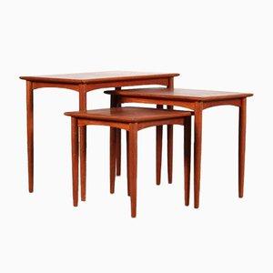 Tables Gigognes, Danemark, 1950s, Set de 3
