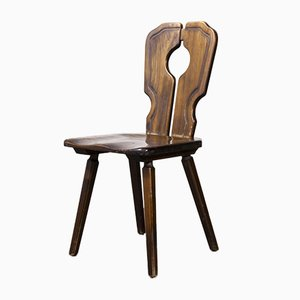 Alsace Regional Open Back Dining Chair, 1950s
