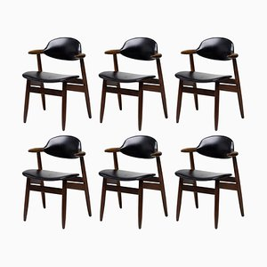 Niederländische Cow Horn Stühle, 6er Set