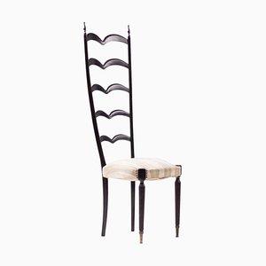 Stuhl mit hoher Rückenlehne von Paolo Buffa