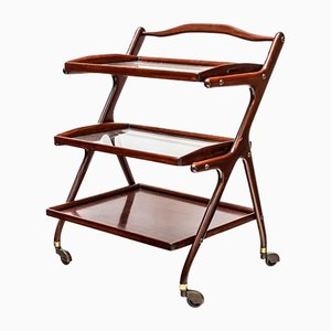 Wooden Trolley by Ico & Luisa Parisi, 1960s