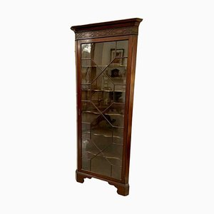 Antique Edwardian Mahogany Corner Display Cabinet