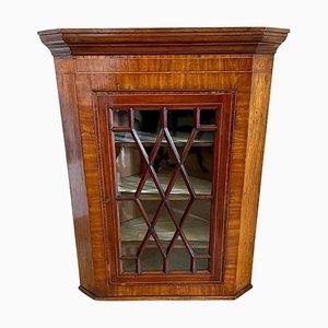 Antique 18th Century Mahogany Hanging Corner Cabinet