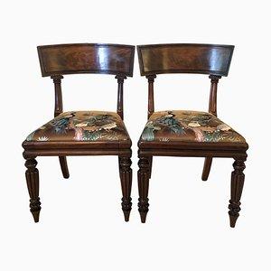 Chaises de Bibliothèque Regency Antiques en Acajou, Set de 2