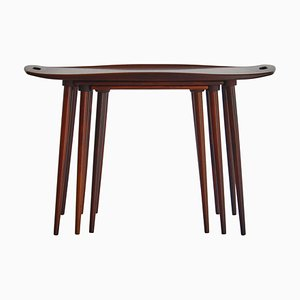 Danish Nesting Tables in Rosewood by A. Jacobsen, 1960s, Set of 3