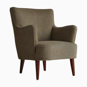 Dänischer Sessel aus Buche & Wolle von White & Mølgaard, 1950er
