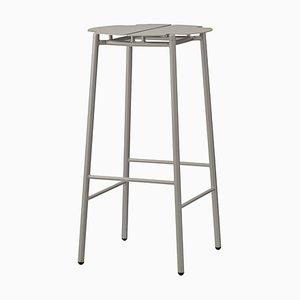 Sgabello da bar minimalista grigio talpa
