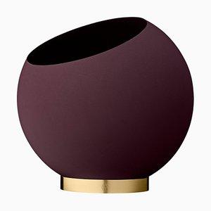 Medium Bordeaux Minimalist Flower Pot
