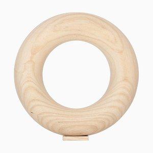 Ash Wood Vacuum Vase by Valeria Vasi