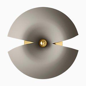 Große Taupe und Gold Wandlampe