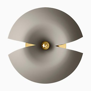 Large Taupe and Gold Wall Lamp