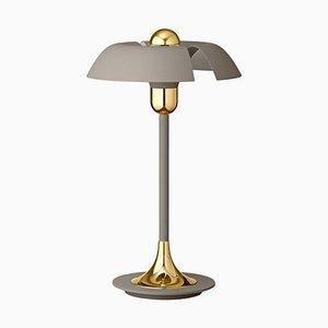 Lampe de Bureau Taupe et Or