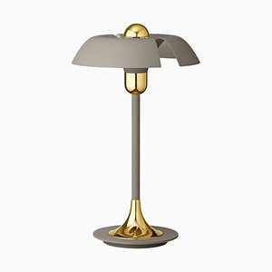 Taupe and Gold Table Lamp