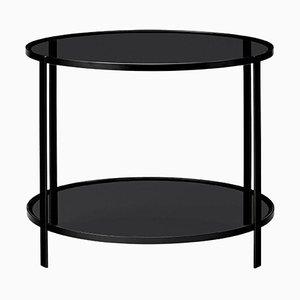 Petite Table d'Appoint en Verre Noir