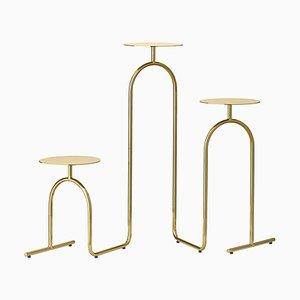 Gold Minimalistischer Säulentisch