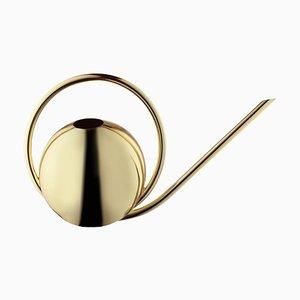 Regadera minimalista dorada