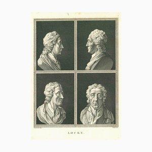 James Neagle, Heads of John Locke, Etching, 1810