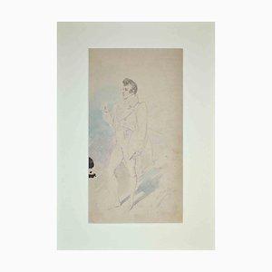 Alfredo Edel, Theaterkostüm, Bleistiftzeichnung, 1895