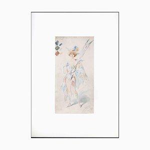 Alfredo Edel, Harlequin, Watercolor, 1904