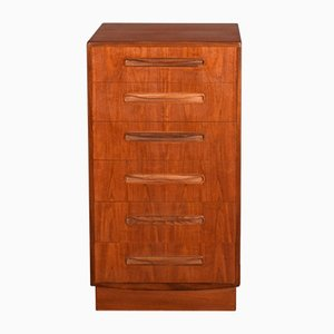 Teak Fresco Tall Teak Chest of Drawers by Victor Wilkins for G-Plan, 1960s