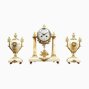 Französisches Dreiteiliges Uhrenset von J Pratt Paris, 3er Set