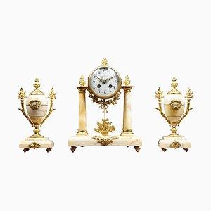 French Three-Piece Clock Set from J Pratt Paris, Set of 3